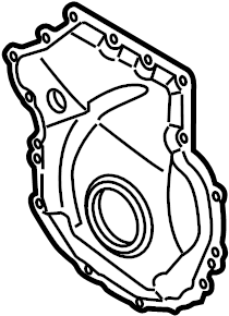 Volkswagen Jetta GLI Engine Timing Cover. LITER, Code