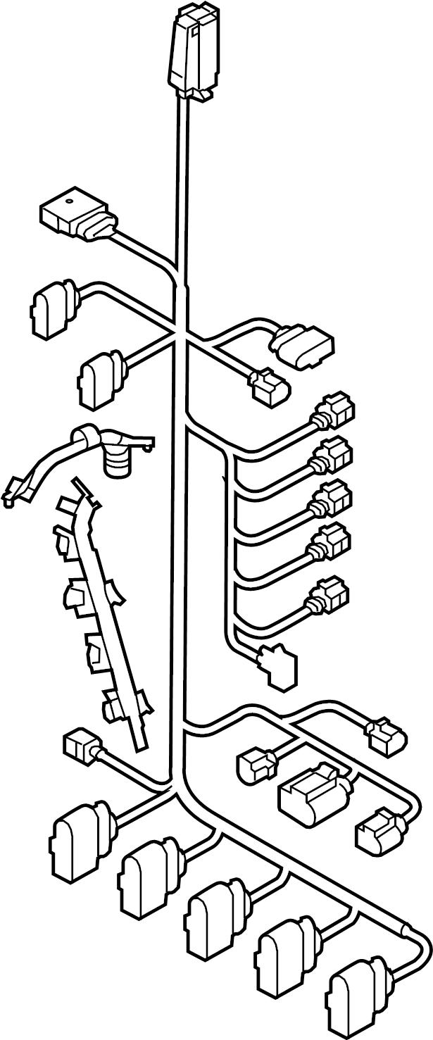 Volkswagen Jetta Engine Wiring Harness. 2.5 liter. 2.5