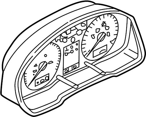 Volkswagen Jetta Instrument Cluster. Trans, Auto