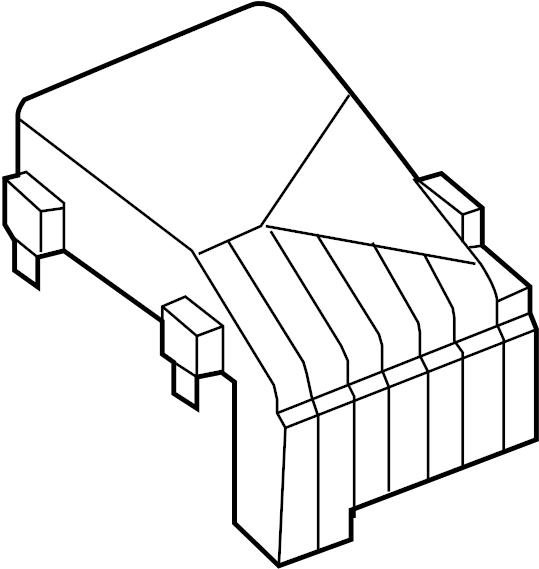 Volkswagen GTI Fuse Box Cover. ENGINE, COMPARTMENT, WAGON