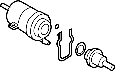 Volkswagen Jetta GLI Fuel Filter. Fuel Pump Filter