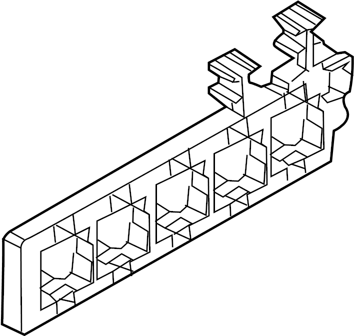 Volkswagen CC Relay Box. PASSENGER, COMPARTMENT, Upper