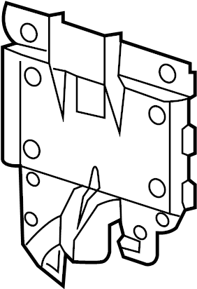 Volkswagen Jetta End plate. Fuse and Relay Center Bracket