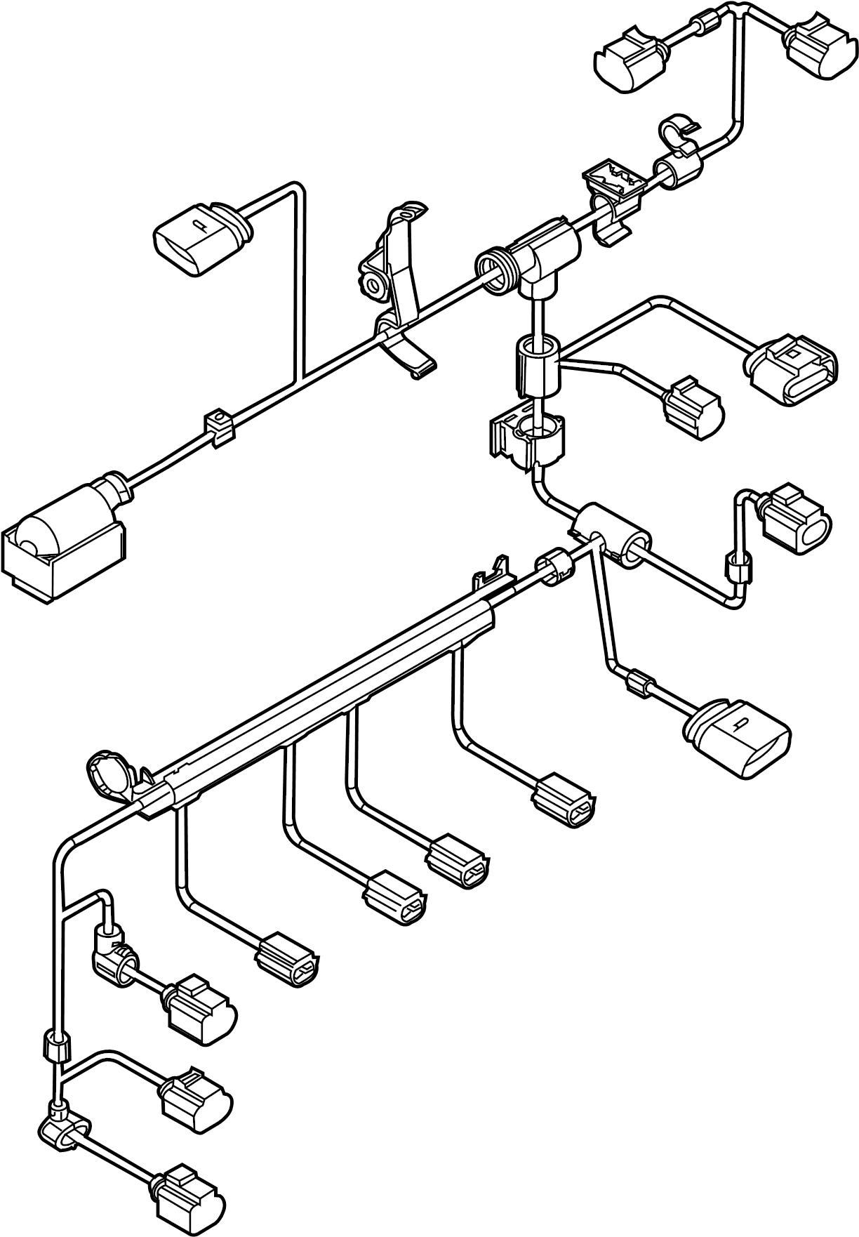 Volkswagen Jetta Engine Wiring Harness. 2.0 LITER, GAS, W
