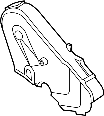 Volkswagen Jetta Engine Timing Cover. Upper, LITER, DIESEL
