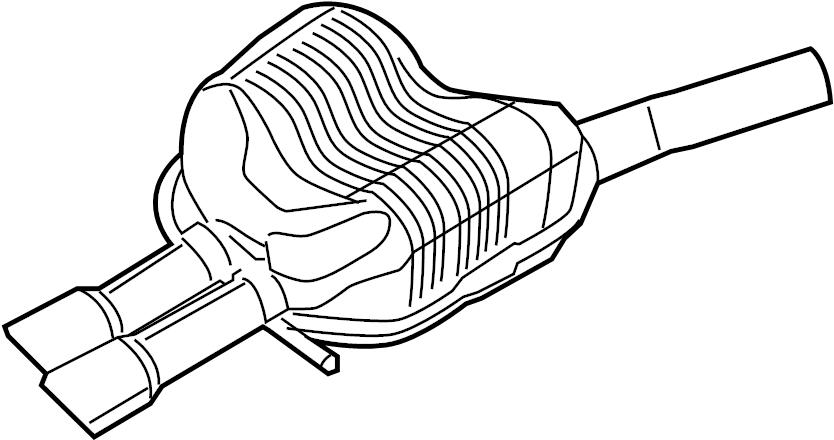 Volkswagen Jetta Exhaust Muffler. 2.5 LITER. Jetta; 2.5L