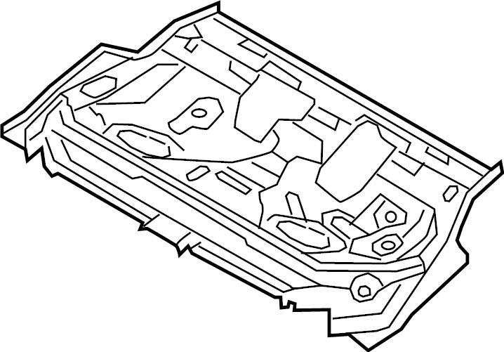 Volkswagen Jetta GLI Floor Pan. AWD, Sedan, Wagon