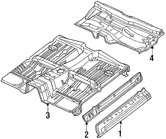 Mazda B2200 Inner rocker. PANEL LT,. 2000 & 2200 standard