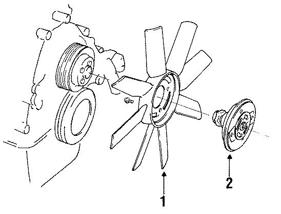 Mazda B3000 Engine Cooling Fan Clutch Blade. 3.0 liter