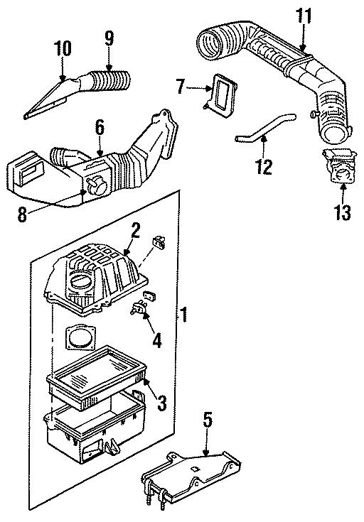 Mazda B3000 Air Filter. 2.3 LITER, 1994. 3.0 LITER, 1994