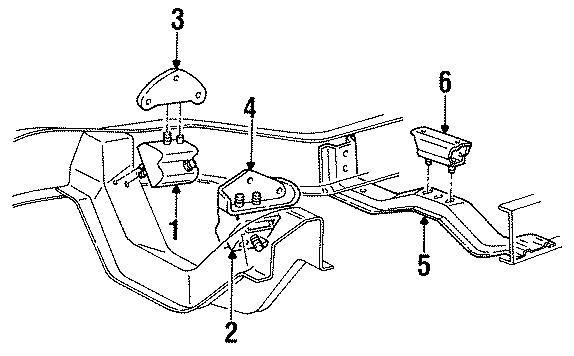 Mazda B3000 Engine Bracket. Motor mount Bracket. (Left). 3