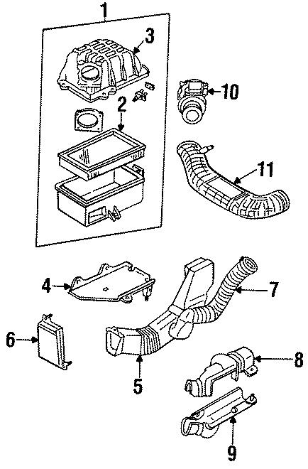 Mazda B4000 Air Filter. 2.3 LITER, 1994. 3.0 LITER, 1994