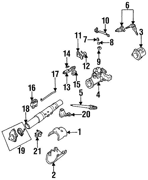 Mazda B3000 Column cover. Upper cover. Upper shroud. 1994
