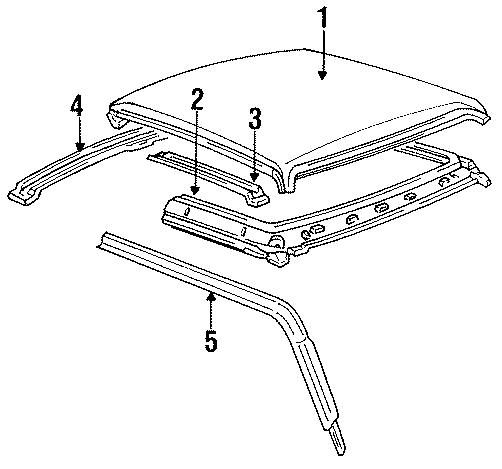 Mazda B3000 Roof Panel Weatherstrip (Left). CAB PLUS. CAB