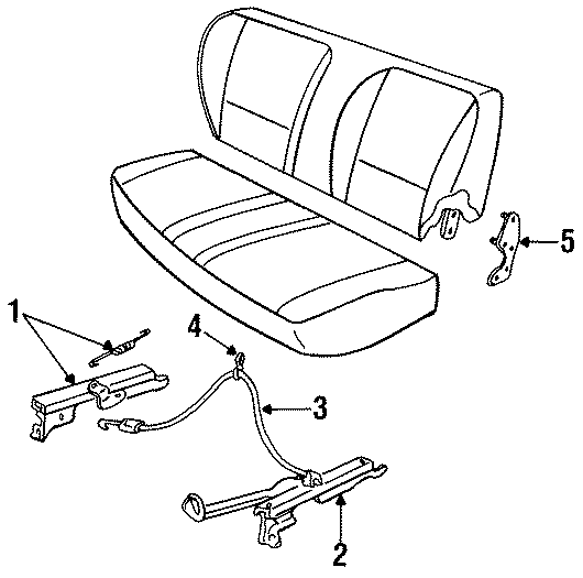 Mazda B2300 Connector wire. FULL BENCH SEAT. TRACKS