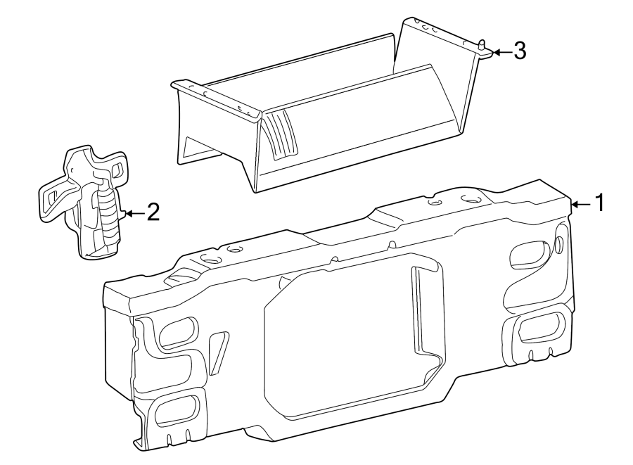 Mazda B3000 Radiator Support Air Deflector. Front, Body