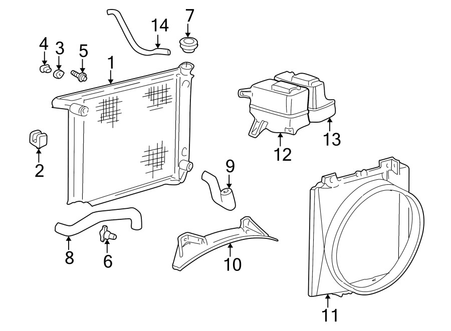 Mazda B2500 Radiator Coolant Hose. 2.5 LITER. B2500