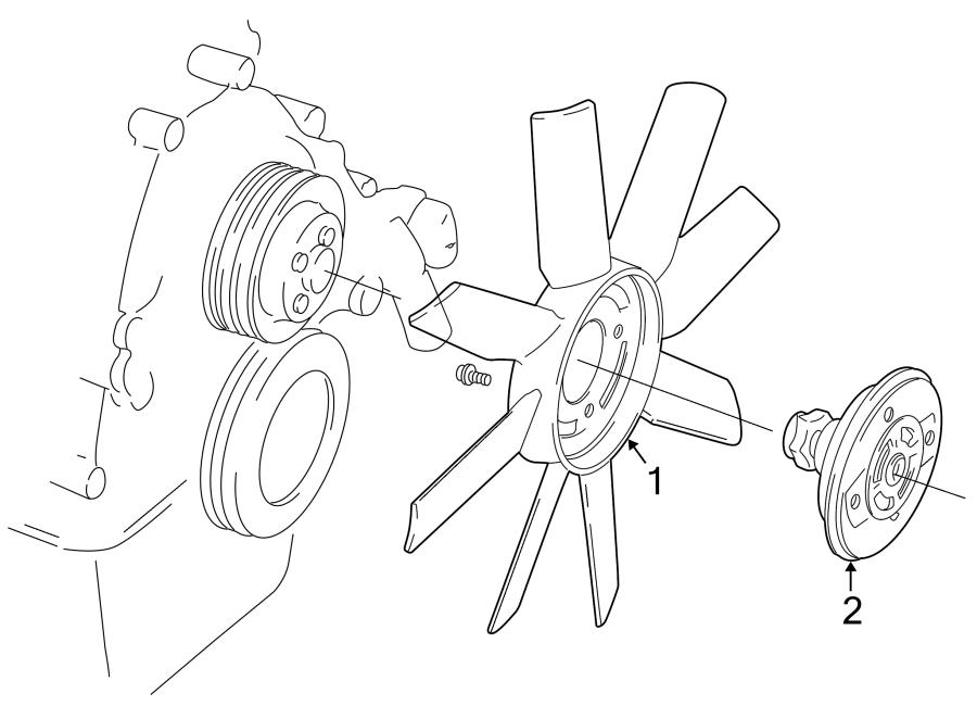 Mazda B2300 Engine Cooling Fan Clutch. Clutch. Fan. DRIVE