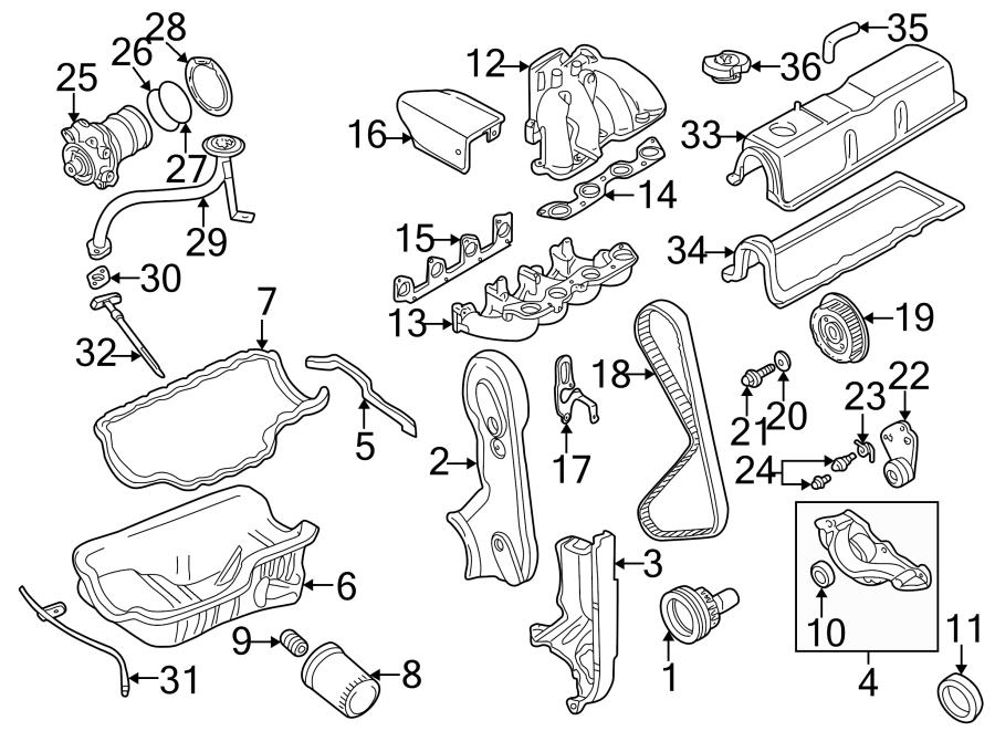 Mazda B2300 Engine Intake Manifold Gasket. 2.5 LITER