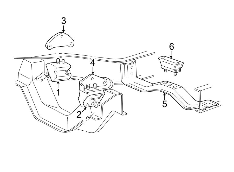 Mazda B3000 Engine Mount Bracket. 3.0 LITER, 4WD. TRANS