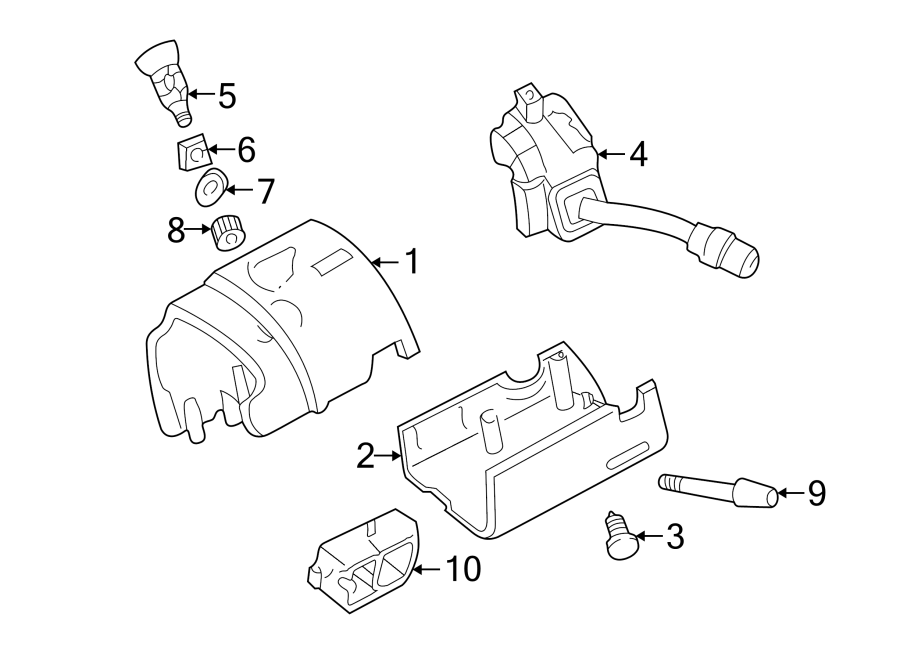 Mazda B2300 Steering Column Cover. Manual, Trans, WHEEL