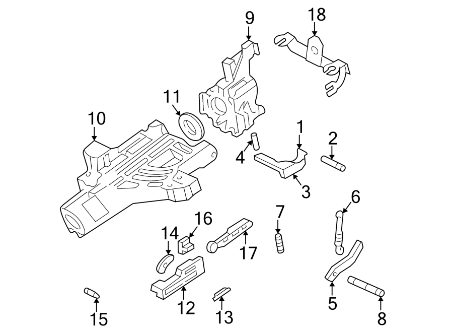 Mazda B2500 Actuator, lock. Lock actuator. B-series pick