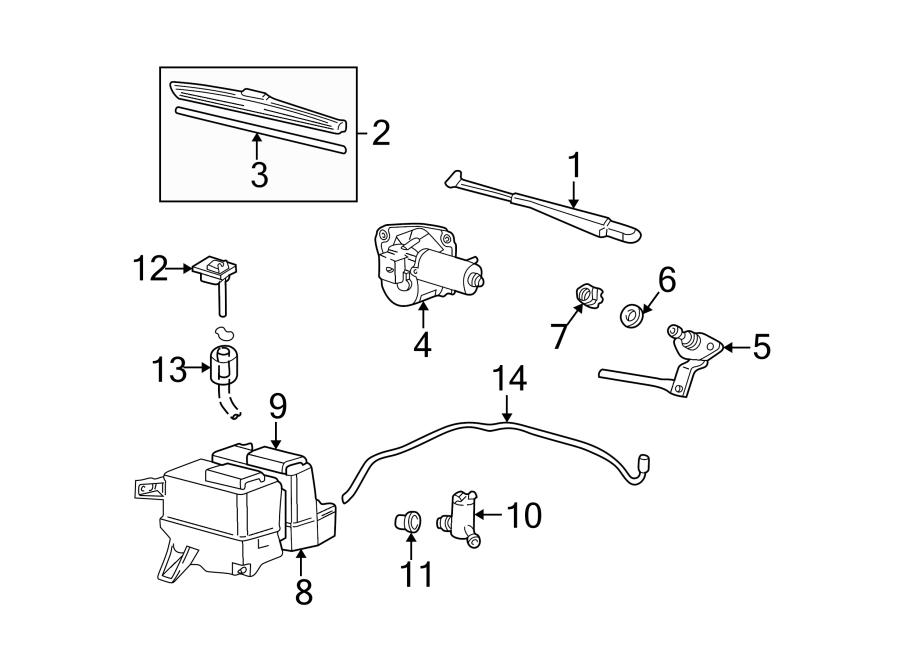 Mazda B3000 Windshield Washer Nozzle. Right, Replace