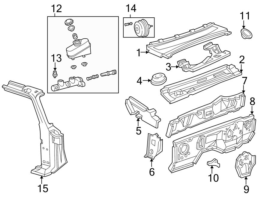 Mazda B3000 Firewall (Upper). CAB PLUS, 4 DOOR. REGULAR