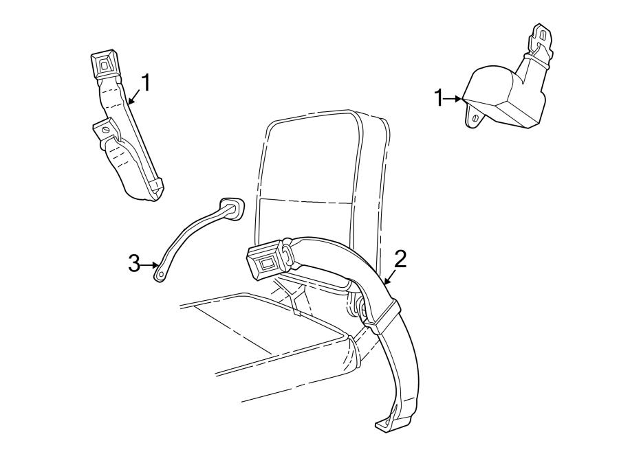 Mazda B3000 Seat Belt Guide Bracket. CAB PLUS, 2 DOOR