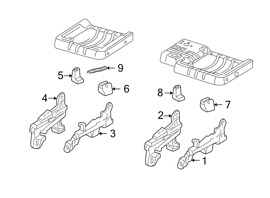 Mazda B3000 Seat Track Adjust Mechanism. REGULAR CAB, 1998