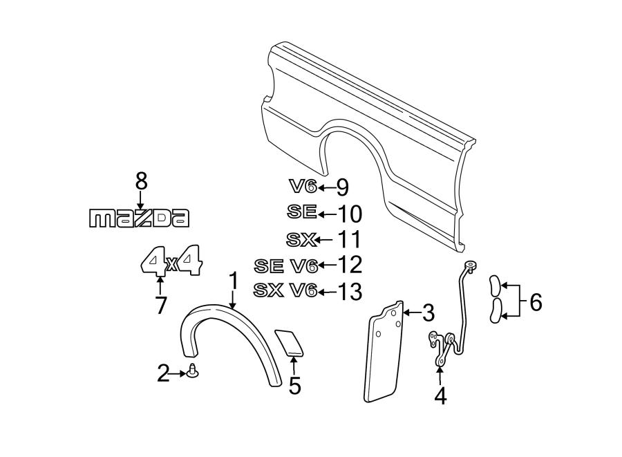 Mazda B3000 Pickup Box Decal. Dual Sport w/Troy Lee