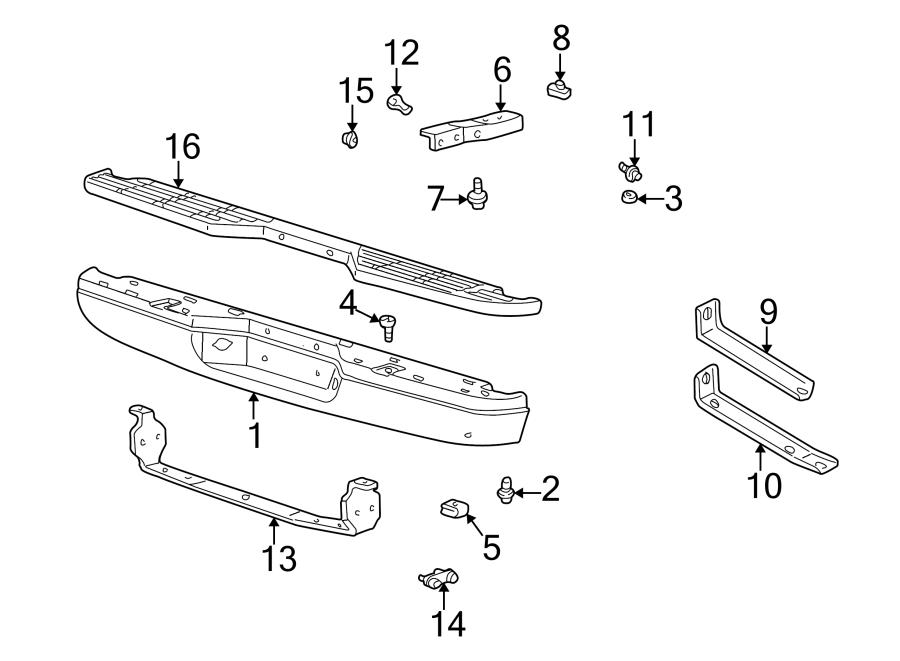 Mazda B3000 Bumper Face Bar Bracket. Right, Rear
