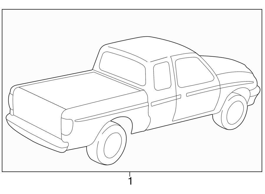 Mazda B3000 Trim Stripe Tape. TYPE 1, regular cab, blue