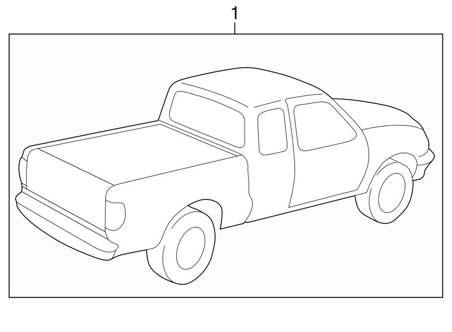 Mazda B3000 Trim Stripe Tape. TYPE 4. Tools, Equipment