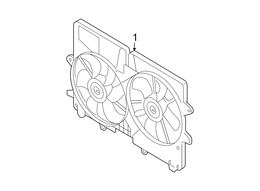Mazda Tribute Engine Cooling Fan Assembly. Radiator
