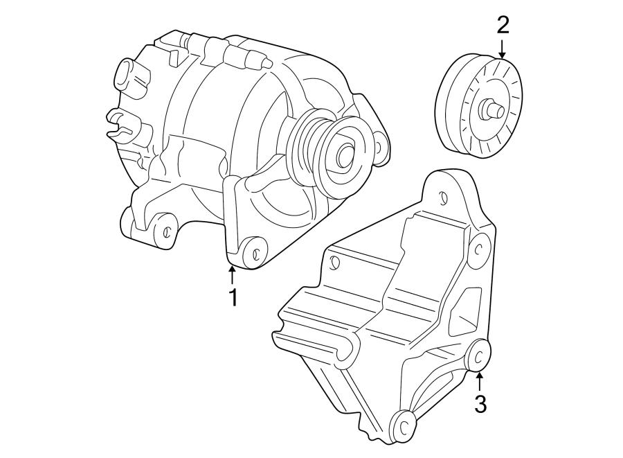 Mazda Tribute Alternator Bracket. 3.0 liter. Telematics