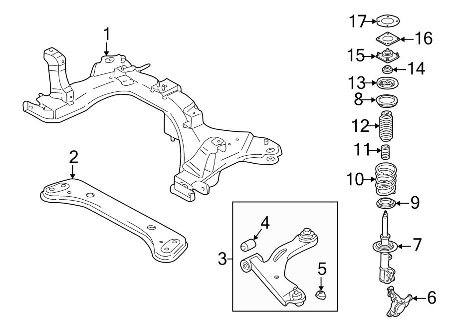 Mazda Tribute Steering Knuckle. SUSPENSION, Left, Front