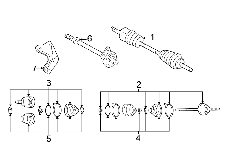 Mazda Tribute Cv axle assembly. Abs, left, trans