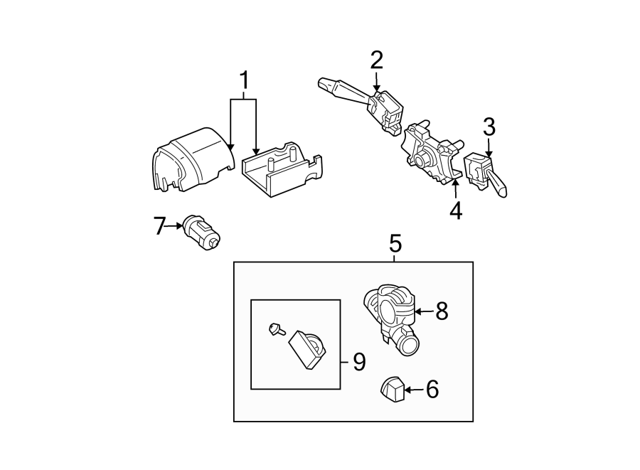 Mazda Tribute Ignition Lock Assembly. 2005-06, manual