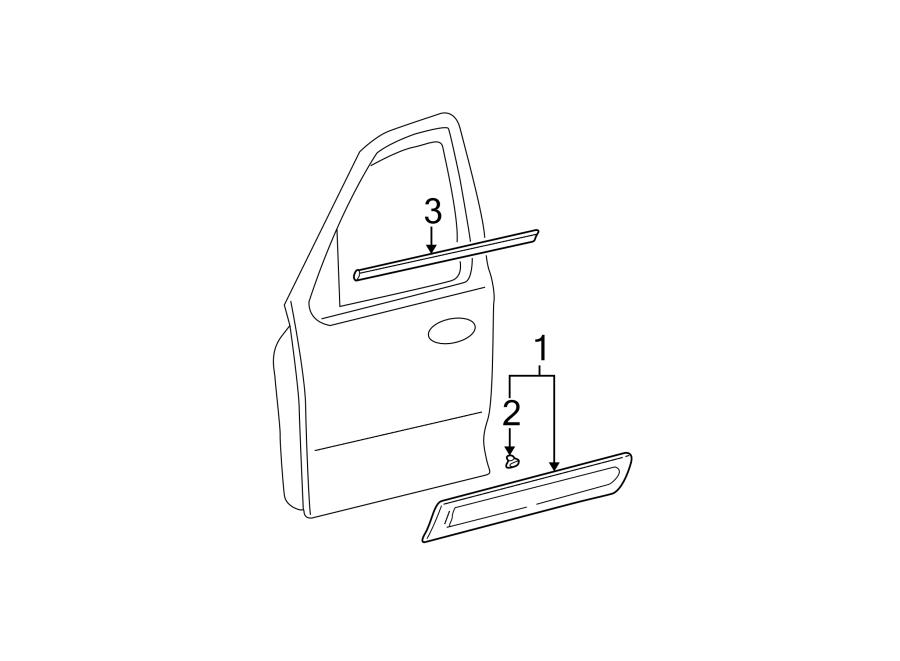 Mazda Tribute Door Window Belt Weatherstrip. Left, Front
