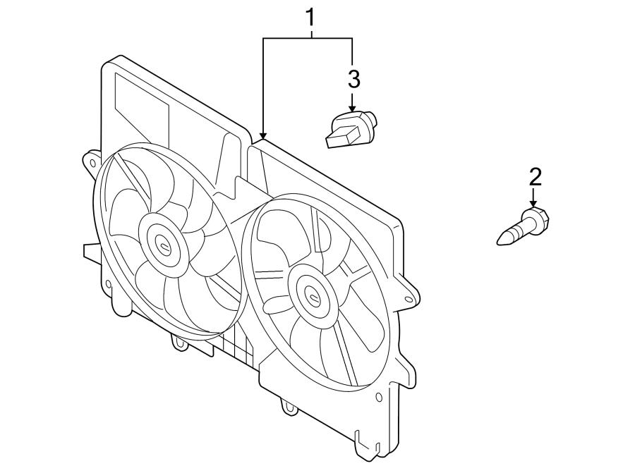 Mazda Tribute Bolt. Instrument. Panel. Fan. Lower. Engine