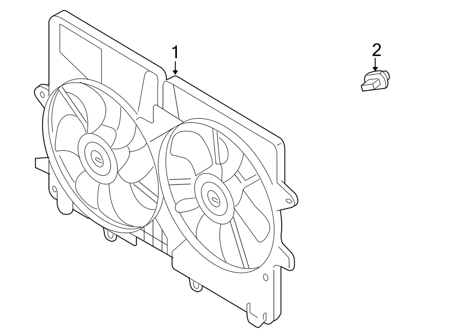 Mazda Tribute Engine Cooling Fan Resistor. 2.3 LITER
