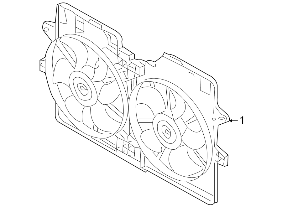 Mazda Tribute Engine Cooling Fan Assembly. RADIATOR