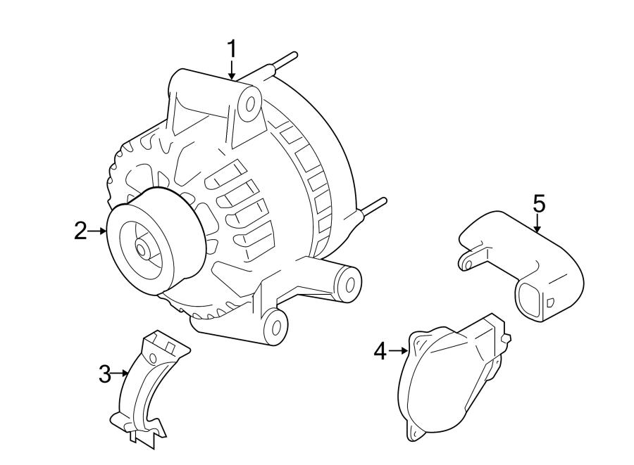 Mazda Tribute Alternator Air Duct. 2.3 LITER. Telematics