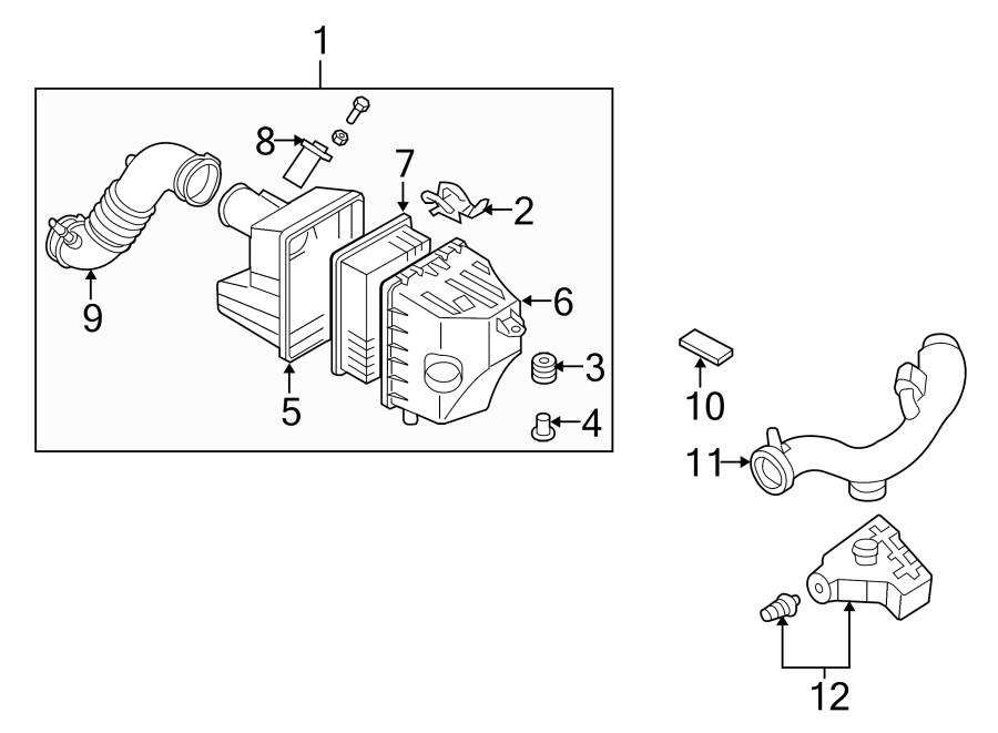 Mazda Tribute Engine Air Intake Resonator. 2.3 LITER. 2.5