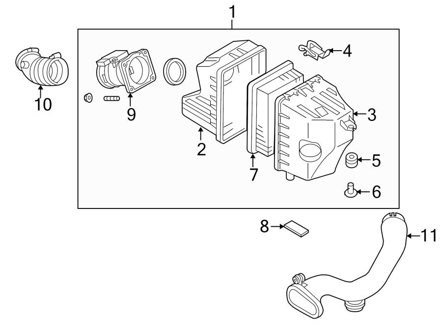 Mazda Tribute Engine Air Intake Hose. 2.3 LITER. 3.0 LITER