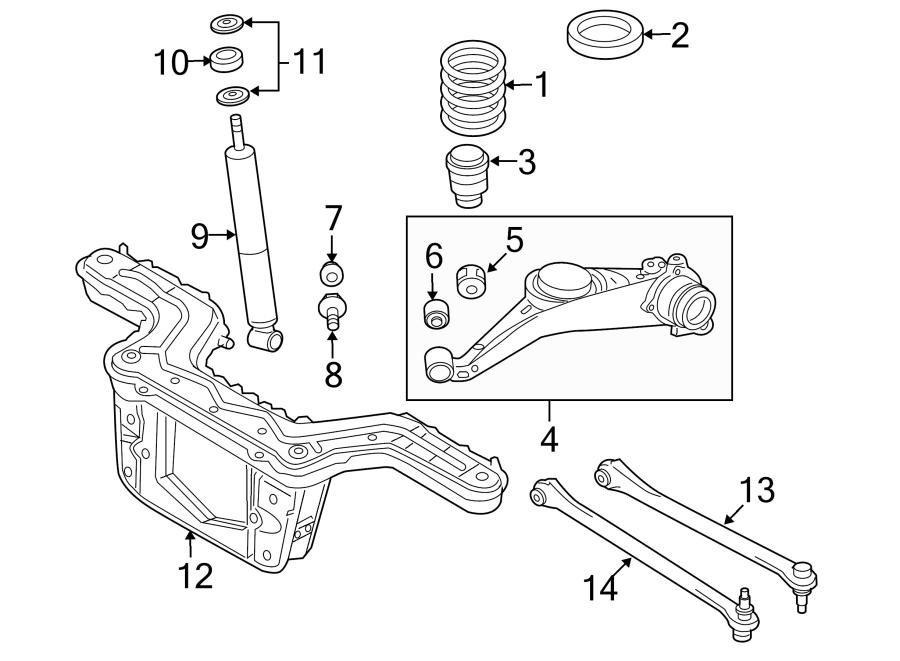 Mazda Tribute Suspension Subframe Crossmember. 2 WHEEL