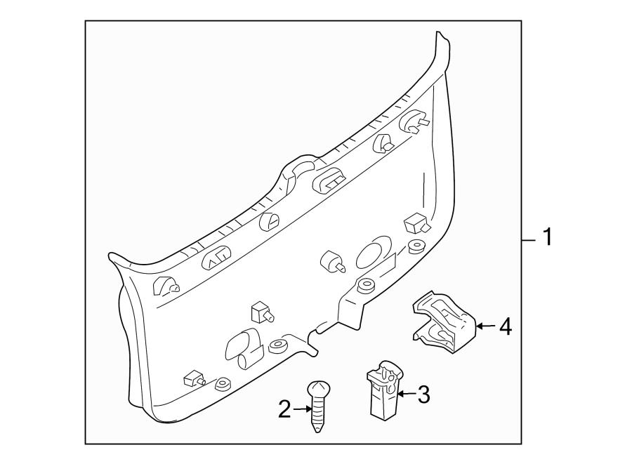 Mazda Tribute Liftgate Trim Cover Clip. Retainer, Panel