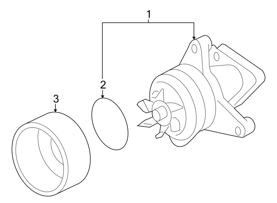 Mazda Tribute Engine Water Pump Pulley. 2.3 LITER. 2.5