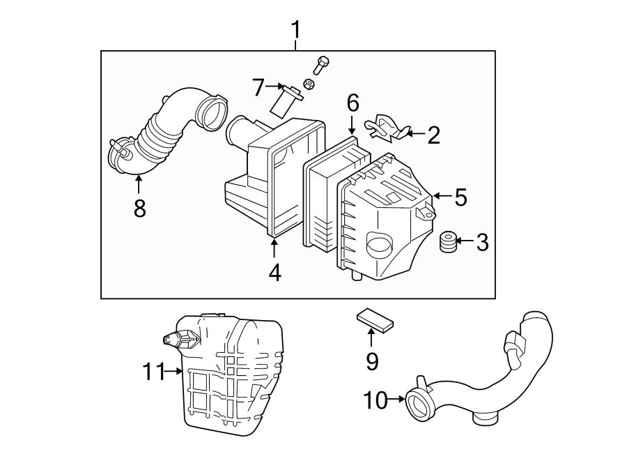 Mazda Tribute Engine Air Intake Hose. 2.3 LITER. 2.5 LITER